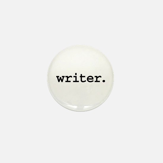 writer. Mini Button