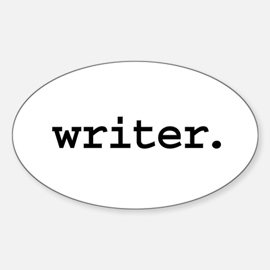 writer. Oval Decal