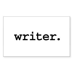 writer. Rectangle Decal