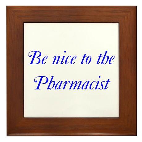 Pharmacist Framed Tile