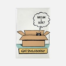 Cat Philosophy Rectangle Magnet