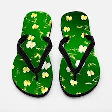 shamrocks, sant patricks day Flip Flops