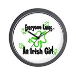 Everyone loves an Irish Girl Wall Clock