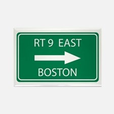 Route 9 Boston Rectangle Magnet