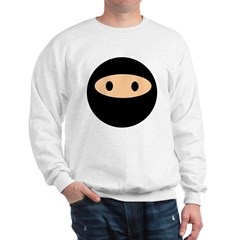 Cute Ninja Face Sweatshirt
