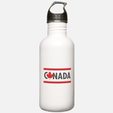 CANADA - Red Design Water Bottle