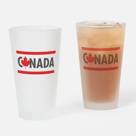 CANADA - Red Design Drinking Glass