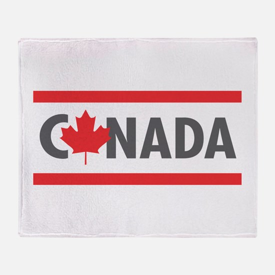 CANADA - Red Design Throw Blanket