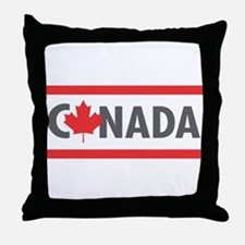 CANADA - Red Design Throw Pillow