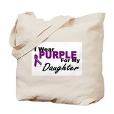 I Wear Purple For My Daughter 3 (PC) Tote Bag