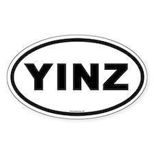 Yinz Oval Bumper Decal