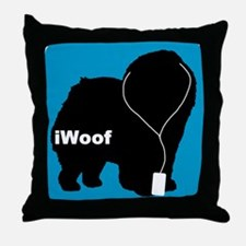iWoof Chow Throw Pillow