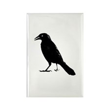 Funny Poe the raven Rectangle Magnet