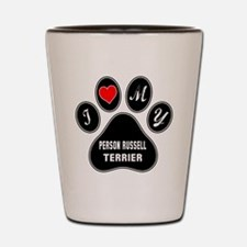 I love my Parson Russell Terrier Dog Shot Glass