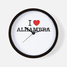 I Love ALHAMBRA Wall Clock