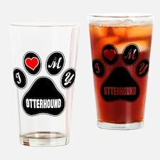 I love my Otterhound Dog Drinking Glass