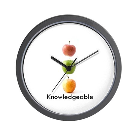 Knowledgeable Wall Clock