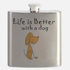 Cute Dogs Flask
