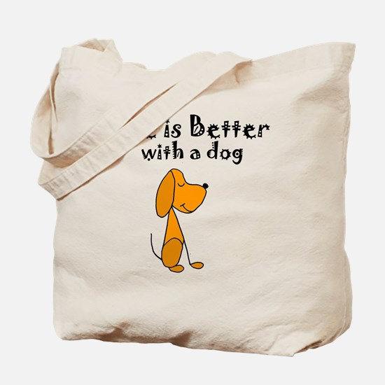 Cool Dog cartoon Tote Bag