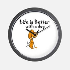 Cute Funny dogs Wall Clock