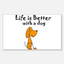 Life is Better with Dog Cartoon Decal