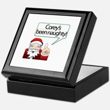 Corey 's Been Naughty Keepsake Box