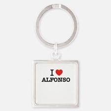 I Love ALFONSO Keychains