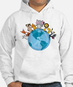Peace on Earth Animals Jumper Hoody