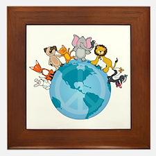 Peace on Earth Animals Framed Tile