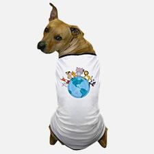 Peace on Earth Animals Dog T-Shirt