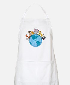 Peace on Earth Animals BBQ Apron
