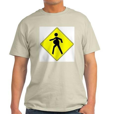 Pregnant Mother Crossing Ash Grey T-Shirt