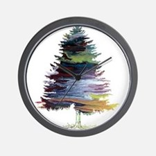 Fir Tree Wall Clock