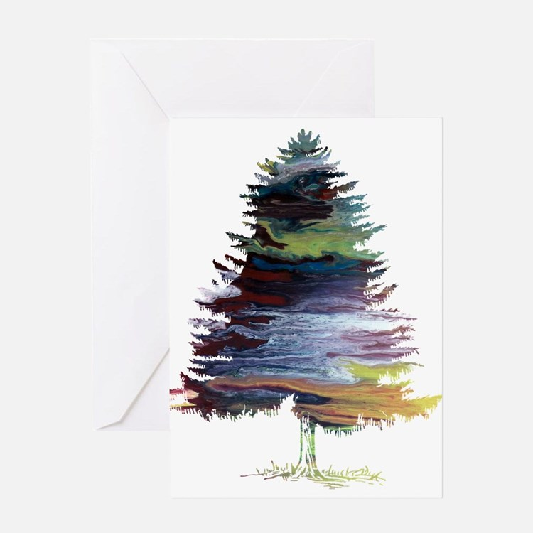 Fir Tree Greeting Cards