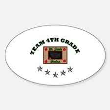 Team 4th grade Oval Decal