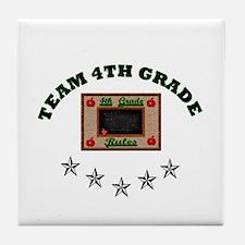 Team 4th grade Tile Coaster