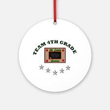 Team 4th grade Ornament (Round)