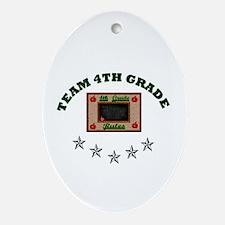Team 4th grade Oval Ornament