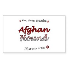 Afghan Breathe Rectangle Decal
