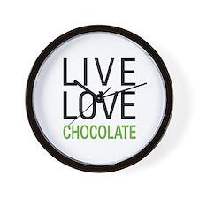 Live Love Chocolate Wall Clock