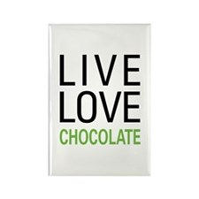 Live Love Chocolate Rectangle Magnet (100 pack)