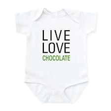 Live Love Chocolate Infant Bodysuit