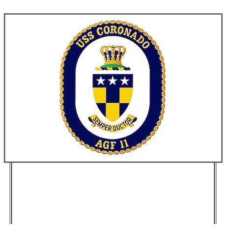 USS Coronado AGF 11 Yard Sign