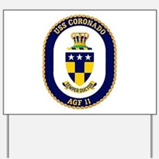 USS Coronado AGF 11 Yard Sign