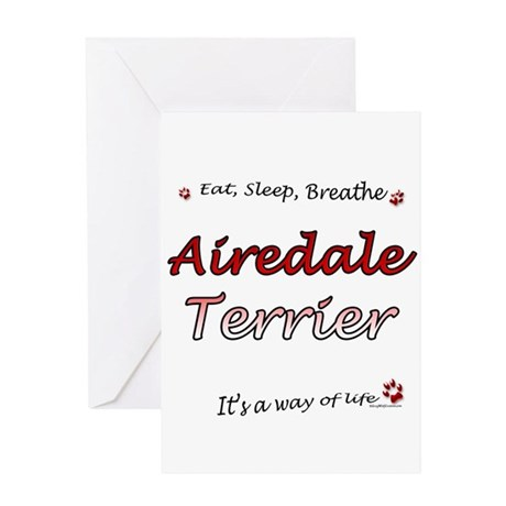 Airedale Breathe Greeting Card
