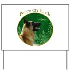 Malinois Peace Yard Sign