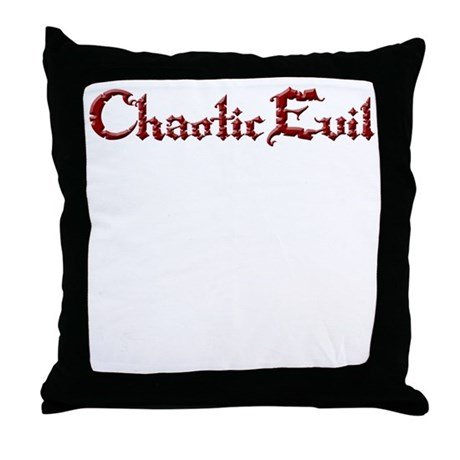 Chaotic Evil Throw Pillow