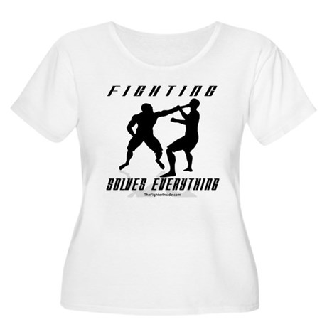 Fighting Solves Everything B/ Women's Plus Size Sc