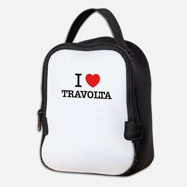 I Love TRAVOLTA Neoprene Lunch Bag