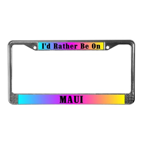 Maui Rainbow License Plate Frame